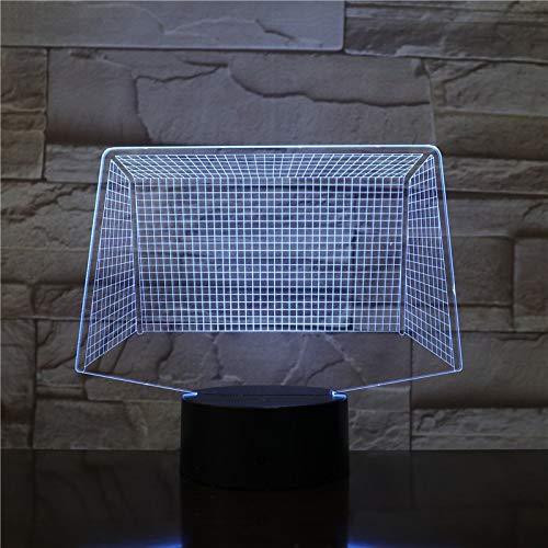 Football Net Door Sport LED Acrylic Night Light Illusion Table Desk Lamp Home Decoration Bedroom Kids Boy Gift