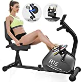 SNODE Magnetic Recumbent Exercise Bike with 8 Levels Resistance, Indoor Cardio Training Workout with...