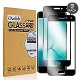 [2 Stück] Owbb® Schwarz Gehärtetes Glas Display schutzfolie Für Meizu Pro 7 Full Coverage Schutz 99% High Transparent Explosionsgeschützter Film