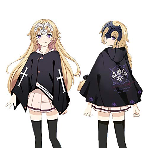 GGOODD Fate/Stay Night Anime Cosplay Disfraz Juana De Arco Clida Capa con Capucha para Actividades En Interiores y Exteriores En Otoo E Invierno Ropa Diaria,White Hat,One Size