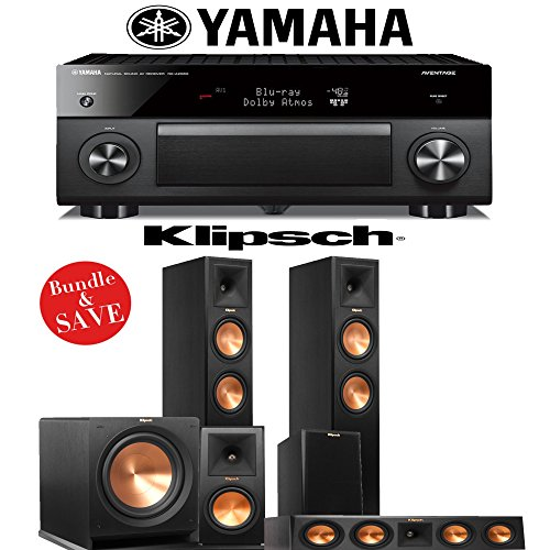 Best Buy! Klipsch RP-260F 5.1 Reference Premiere Home Theater System with Yamaha RX-A2060BL 9.2-Ch N...