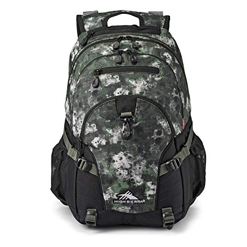 High Sierra Loop-Backpack, School, Travel, or Work Bookbag with tablet-sleeve, Urban Camo, One Size