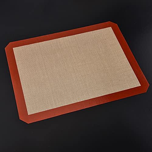 Silicona para Hornear Mats/Lámina de Horno,Tapetes para Hornear Láminas de Horno,Papel de Horno de Silicona Reutilizable,Fibra de Vidrio Antiadherente Profesional (30 x 38.5 cm)