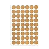 uxcell Screw Hole Covers Stickers Textured Plastic Self Adhesive Stickers for Wood Furniture Cabinet Shelve Plate 21mm Dia 54pcs in 1Sheet Maple, PC-275