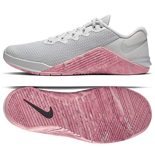 Nike Metcon 5 Women's Training Shoee Pure Platinum/Oil Grey-Imperial BLUET 7.5