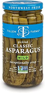 Tillen Farms Veggies, Pickled Crispy Asparagus, 12 Ounce (Pack of 4)
