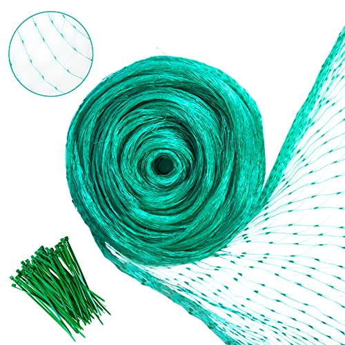 YHmall Bird Netting, Fruit Trees Netting for Bird, Poultry, Deer and Other Pests, Reusable Heavy Duty Mesh Garden Netting to Protect Plants and Vegetables from Birds and Animals (6.8x30Ft)