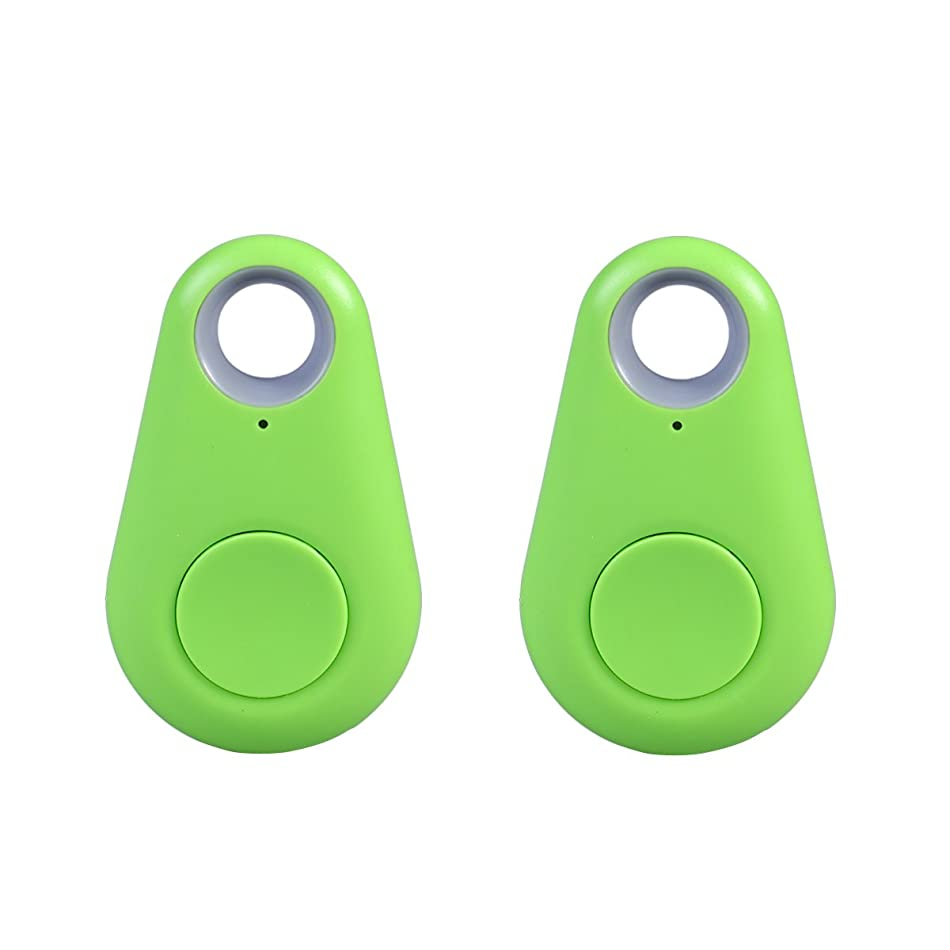 VORCOOL 2PCS Smart Finder GPS Locator Pet Tracker Alarm Wireless Bluetooth 4.0 Anti-lost Sensor Remote Selfie Shutter Seeker for Kids Bag Wallet Keys Car Smart Phone (Green) k7502087911