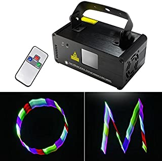 Sumger Professional DMX 3D Effect RGB Laser Show Lighting TDM-RGB400 Scanner Party Light LED Projector Fantastic Full Color Xmas with Remote for Festival Bar Club Party Wedding