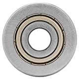 Cuscinetto a sfere scanalato a sfere a V a bassa rumorosità a bassa rumorosità a V di 12 * 41 * 20mm con cuscinetti a sfere a ricircolo di sfere Keuge LV201ZZ