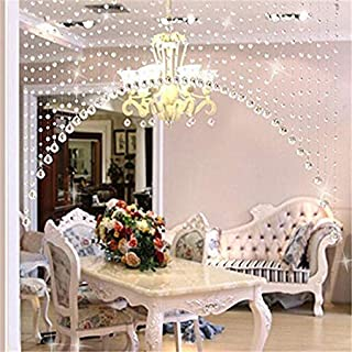 Blissbee Plastic Curtain, 10 Feet, Transparent, Pack of 10