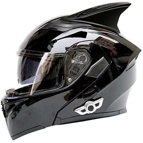 Casco De Motocicleta, Bluetooth Flip Completo Cascos Modulares Cascos Integrales CertificacióN Dot/ECE Bluetooth Antivaho Modular Casco De Carreras Off-Road Casco De Motocicleta