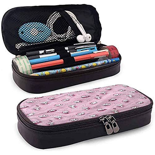 Bleistiftbeutel, federmäppchen tasche, federmäppchen, große kapazität wasserdicht kinder spielerisch kätzchen in blumen 20cm * 9cm * 4cm