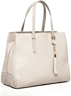 Baby Sense Melaine Mom & Baby Diaper Bag/Handbag   Fashion + Function Purse & Tote Bag   Large Capacity & Lightweight, Change Mat, Stroller Strap, Waterproof Bottle/Travel Organizer (Nude)