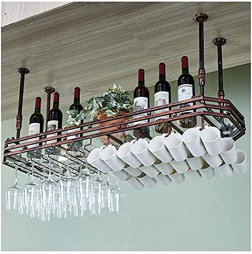 Equipo para el hogar Estante para vinos Portavasos para vino tinto Portavasos de hierro forjado Espacio para el hogar Bar Invertido Estante para copas de vino Estante elevado para copas de vino Est