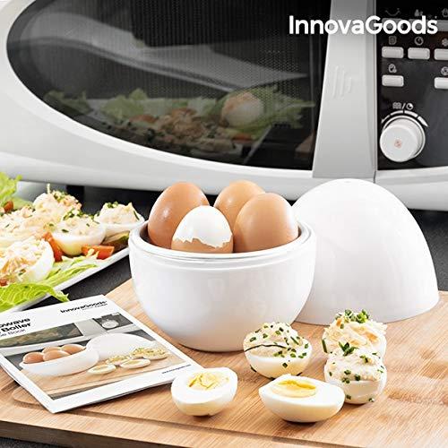 Innovagoods bbb_V0101051 Eierkoker voor magnetron met receptenboilegg, wit