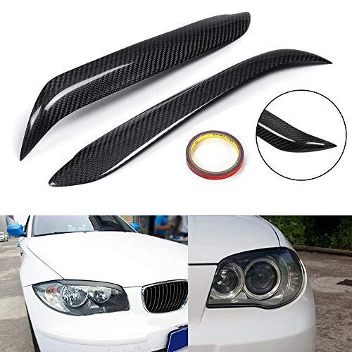 JXSMQC 1 paar Car Carbon Fiber koplamp wenkbrauw Cover Trim hoofd Lamp ooglid Sticker.Voor BMW E87 E81 E82 E88 Koplamp Wenkbrauw