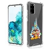 DISNEY COLLECTION Samsung Galaxy S20 Plus Case 6.7 Inch (2020) Mickey Mouse and Friends Ultra-Thin Shockproof Scratch-Resistant Hard PC + Soft TPU Transparent Bumper Protective Cover Case