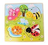 Joueco - Puzzle (4 unidades), diseño de insectos