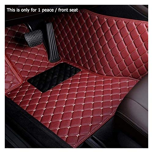 ROYAL STAR TY Car Styling Encargo del Coche tapetes for Audi A3 A1 Todo Modelo A8 A7 Q3 Q5 Q7 A4 A5 A6 S3 S5 S6 S7 S8 R8 TT SQ5 SR4-7 (Color Name : Red Wine-1 Piece Driver Seat)