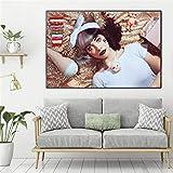 Geiqianjiumai Dollhouse Life Walla Impresión en Lienzo Sala de Estar Decoración del hogar Pintura al óleo Moderna Cartel del Arte de la Pared Pintura HD sin Marco 48x72cm