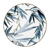 6 Pieza Creativa Diseño Posavasos Hoja de Tinta Posavasos de Cuero de Microfibra, Tipos de Café té Cristal Posavasos Portavasos Mat para Cocina Salón y Bar 11cm