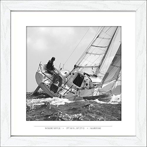 Pro-Art-Bilderpalette, an451o2, Quadretto Scandic-Living Regatta I, 35 x 35 cm, Multicolore (Bunt)