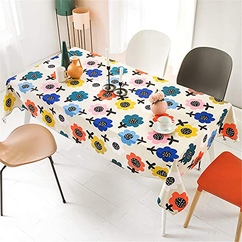 Woonn tafelkleed van katoen, bedrukt in kleur voor restaurant, tuin, hotel tuin