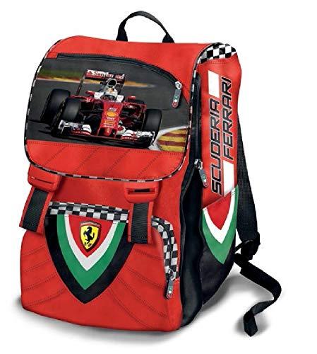 Zaino Estensibile 30X40X13.5 Scuderia Ferrari - Prodotto Ufficiale Extensible School Bag
