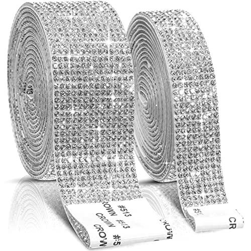2 Rollos Cintas de Diamantes de Imitación Cristal Autoadhesivas Pegatinas Decoractivas de...