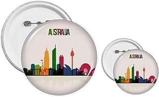 Australie City Landmark Skyscrapers Outline Pins Badge Design Kit de Loisirs Créatifs