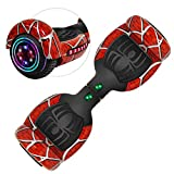 Rawrr Hoverboard Self Balancing Electric Scooter with LED Wheel Lights and Bluetooth Speakers for Kids and Adults, UL2272 Certified, Unique Red Pattern