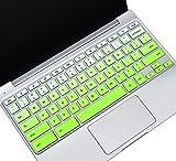 Keyboard Cover for 2020-2017 Samsung Chromebook 3 4 XE500C13 XE501C13 XE310XBA 11.6'/Chromebook 4 XE350XBA 15.6/11.6' Chromebook 2 XE500C12/Chromebook Plus V2 XE520QAB XE521QAB 12.2' Skin,Ombre Green