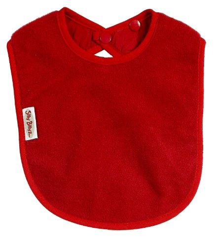 Silly Billyz SIB-102RO Lätzchen, 3-36 Monate, Vlies, rot