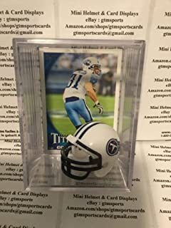 Cortland Finnegan Tennessee Titans Mini Helmet Card Display Case Collectible Auto Shadowbox Autograph