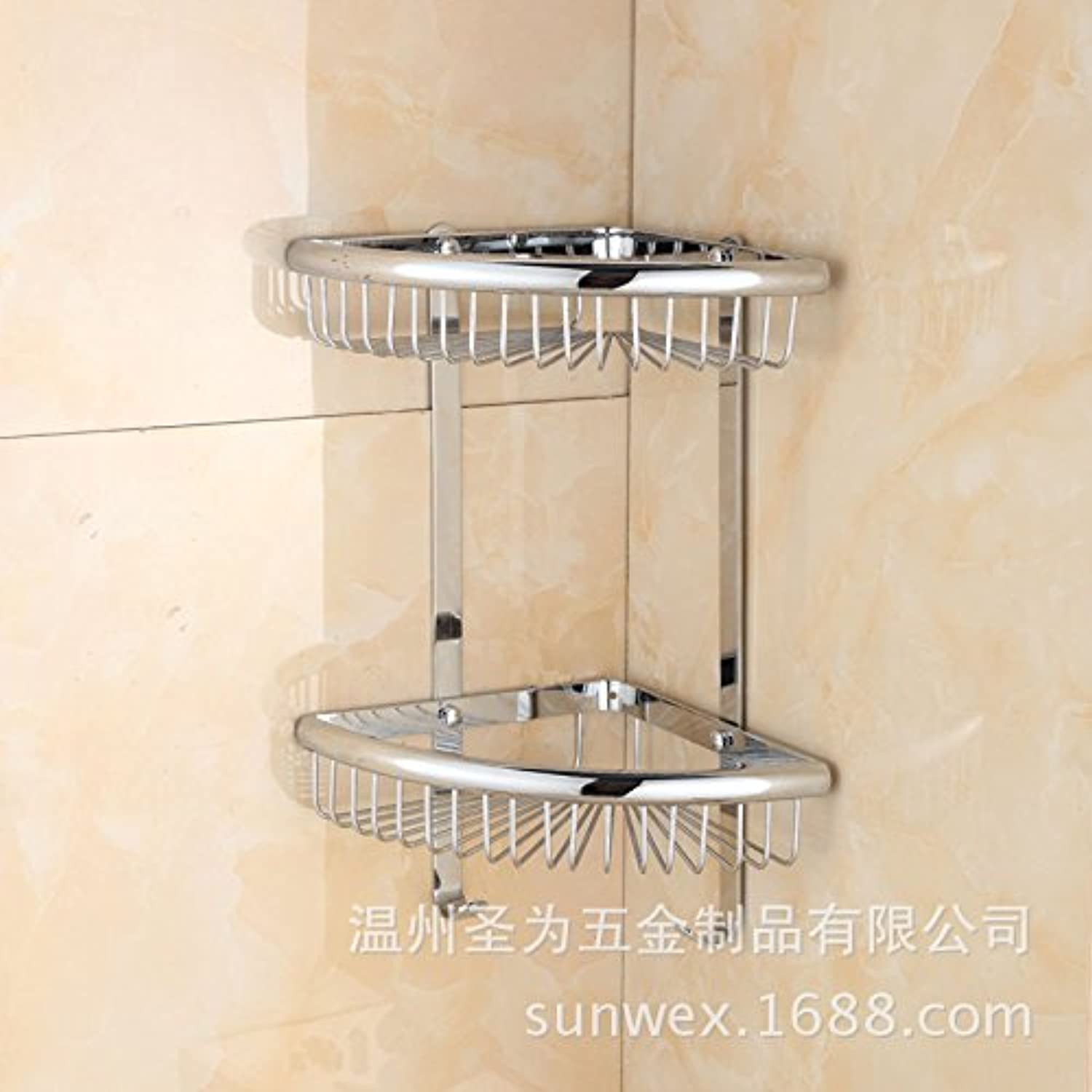 Copper bathroom corner shelves wall mounted triangle shelf basket double hook drain basket bathroom corner shelf
