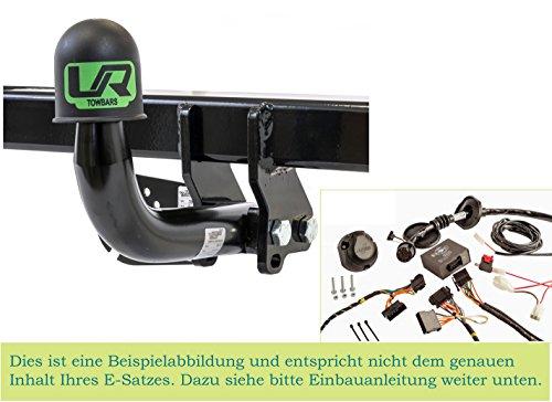 UmbraRimorchi Feste Starr Anhängerkupplung mit 13p Spezif ESatz Kompatibel mit Dacia SANDERO STEPWAY Fliessheck 5Türer 2008-2012 UT080COR01ZFM/WS21620501DE2