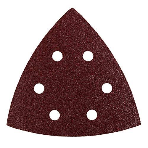 kwb Schleif-Dreieck für Delta- u. Multi-Schleifer - für Metall, Holz, Lack u. v. m., 105 mm für AEG u. Kress-Maschinen, Korn 8 x K-60, 6 x K-120, 6 x K-180, 20 Stk., gelocht, Sparpack