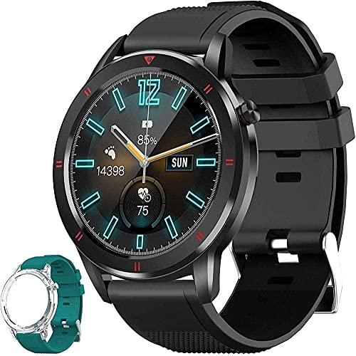 Reloj inteligente Actividad Fitness Tracker con monitor de ritmo cardíaco 1 3 pantalla táctil podómetro Smartwatch para hombre y mujer IP68 impermeable contador de pasos compatible con iPhone Android