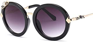KUANDAR GLA - Gafas de Sol para niños, UV400, Protección UV, Gafas De Sol De Aviador, Montura Cómoda con,para niños con Montura de Metal-Acero Fino