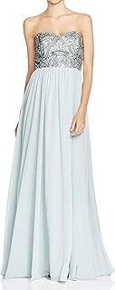 Decode 1.8 Women's Dusty Blue Strapless Beaded Bust Dress