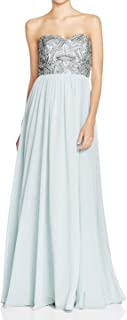 Decode 1.8 Women's Dusty Blue Strapless Beaded Bust Dress