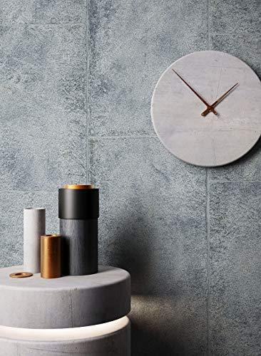 NEWROOM Beton-Optik Tapete Grau Platten Vliestapete Vlies moderne Design 3D Optik Betontapete Zementtapete inkl. Tapezier-Ratgeber