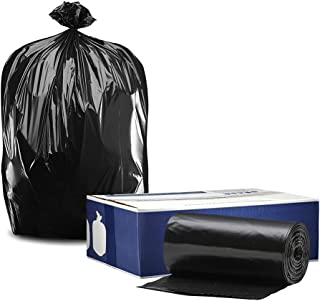 """Plasticplace 55-60 Gallon Trash Bags │ 1.0 Mil │ Black Heavy Duty Garbage Can Liners │ 38"""" x 58"""" (100 Count)"""