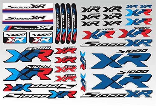 ZQTG Para BMW S1000xr S1000 XR Pegatinas para Caja Trasera de Motocicleta XR Calcomanía para Guardabarros con Pico Calcomanías para amortiguadores Calcomanías Reflectantes a Prueba de Agua (Color: 30