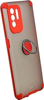 جراب حامل معدني مغناطيسي لهاتف Oppo A94 (أحمر)