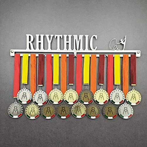 Rhythmic - Colgador de medallas Deportivas - Medallero de Pared Gimnasta, Gimnasia Rítmica - Sport Medal Hanger - Display Rack (600 mm x 100 mm x 3 mm)