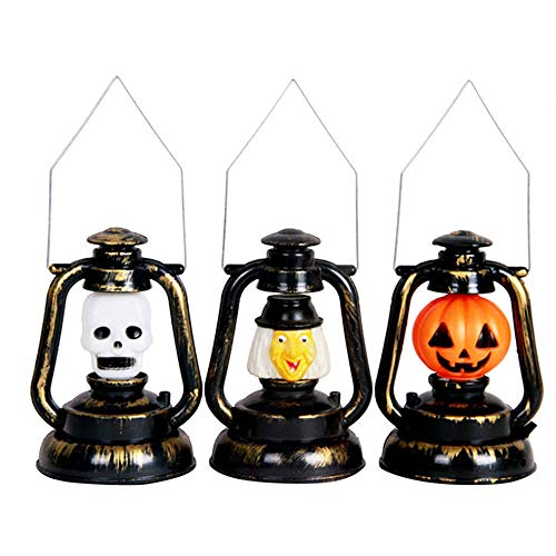 Kreative Halloween Led Petroleumlampen Handheld Retro Laternenlicht Dekorative Urlaub Tischlampe Betrieben Halloween Led-Leuchten Tragbare Laterne Schreibtischlampe