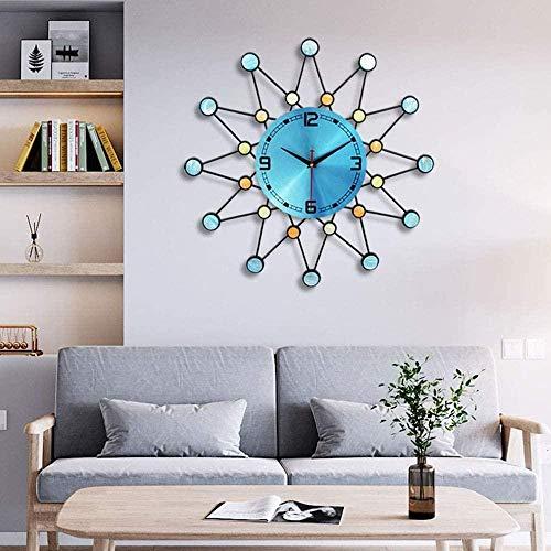 Moderne große blaue einfache Metallmaterialien, Zeitmesser, Taschenuhr, Quarzuhr für Haushalt, elektronische Kunst, Stummschaltuhr, Größe 56,5 cm x 56,5 cm