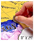 USA Scratch Off Travel Map 17X24 Inch By...